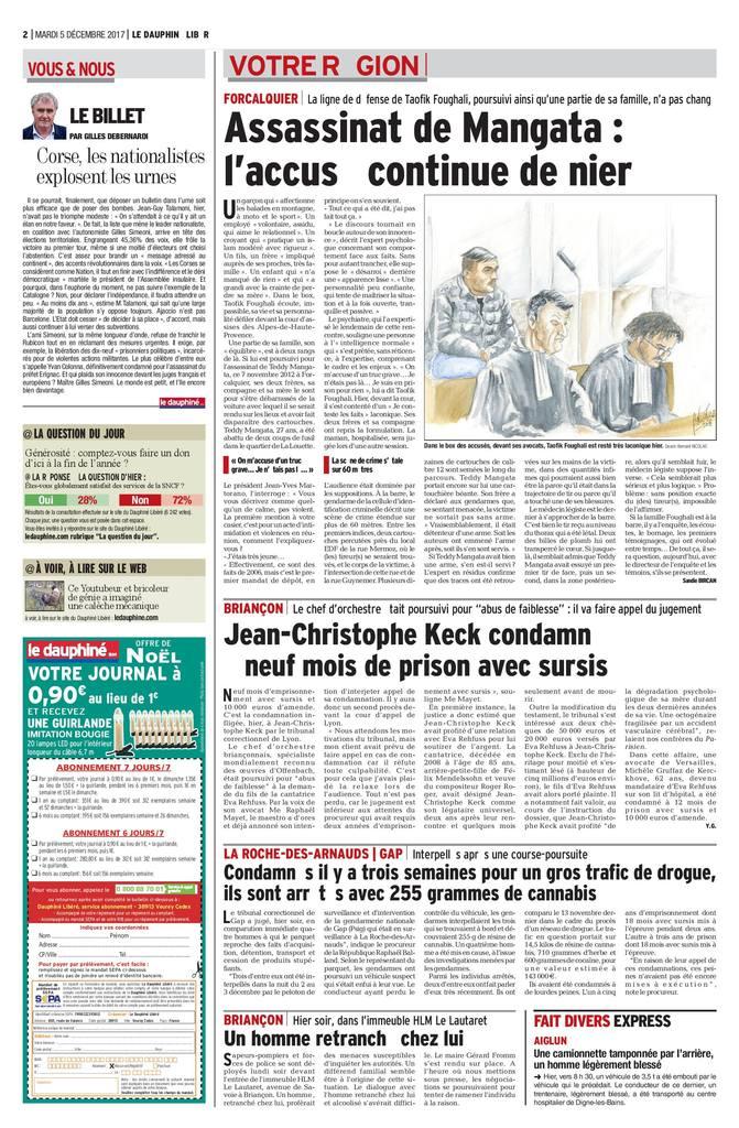 Cour d'Assises Alpes de Haute-Provence- Affaire d'assassinat