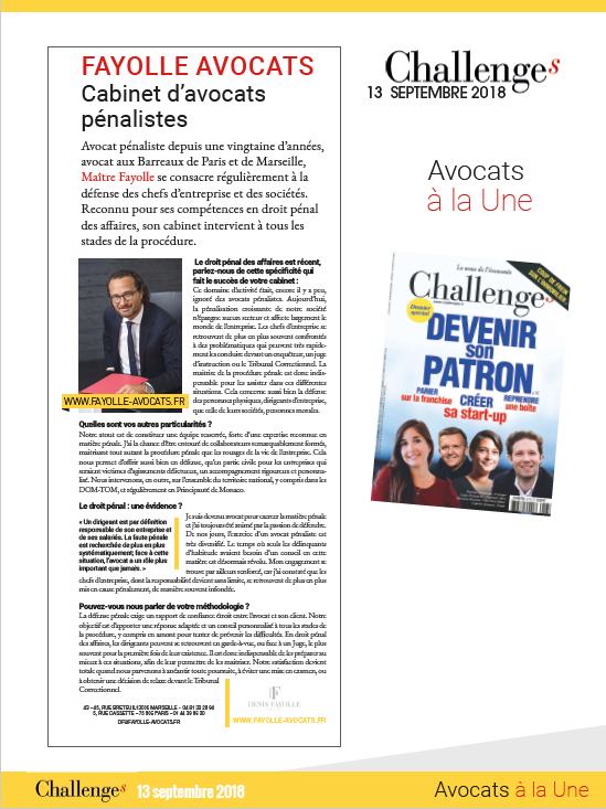 Magazine CHALLENGE Septembre 2018