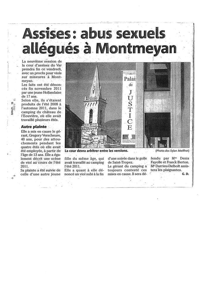 Var Matin - Cour d'Assises de Draguignan - Affaire de viol aggravé