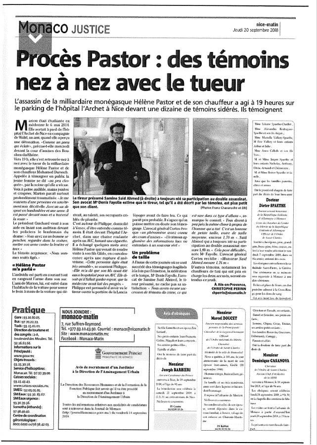 Cour d'Assises des Bouches-du-Rhône - Affaire PASTOR
