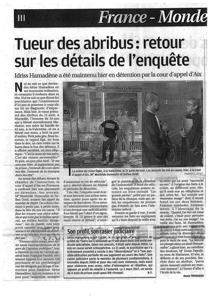 Chambre de l'Instruction - Aix-en-Provence - Affaire d'assassinat