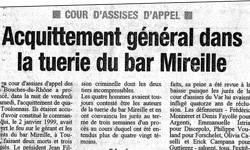 Acquittement général dans la tuerie du bar Mireille