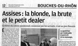 Affaire Crime Passionnel, article La Provence