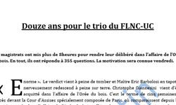 Affaire FLNC-UC, Cour d'Assises de Paris, article Corse Matin