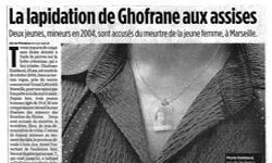 Affaire Ghofrane aux Assises