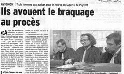 Affaire hold-up Super U Puyvert : Ils avouent le braquage au procés
