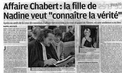 """Affaire Chabert la fille de Nadine veut """"connaître la vérité"""", article La Provence"""