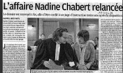 Affaire Nadine Chabert relancée, article La Provence
